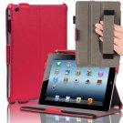 Hard Back Slim Folio Case Smart Cover Stand Hand Strap For iPad Mini 1st Gen Red