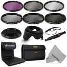 67MM Filter Kit UV CPL FLD+ ND 2 4 8 for Canon EOS 6D 7D 50D 60D 70D 5D Mark III