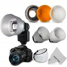 New Universal Lambency Flash Diffuser Clear and Cloud with Dome Cover Set