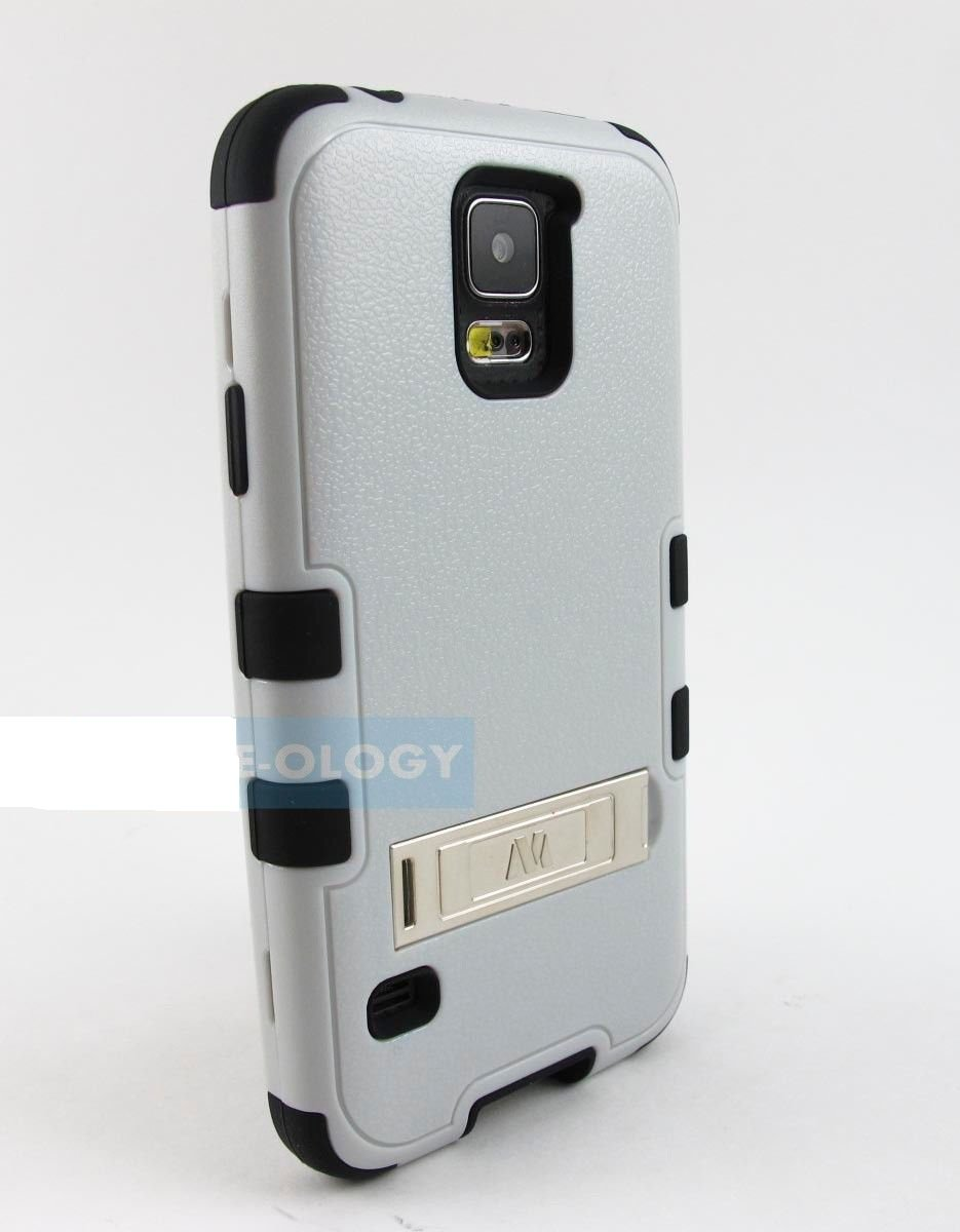 New Grey and Black Samsung Galaxy Phone Rugged Case Cover Stylus-Pen
