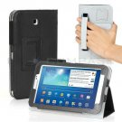 Black Leather Hand Strap Case For Samsung Galaxy Tab 3 7 P3200 8 T3100 10.1 P5200