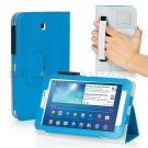 Blue Leather Hand Strap Case For Samsung Galaxy Tab 3 7 P3200 8 T3100 10.1 P5200