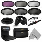 New 58MM Filter Kit UV CPL FLD and ND 2 4 8 for Canon EOS 1100D 700D 650D