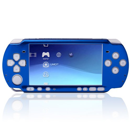 Blue Multi-Color Aluminum Ultra Slim Case Skin Cover Protector Circle Sony PSP 3000