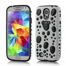 TPU Gel Hybird 3D Bubbles Hard Case Cover For Samsung Galaxy  S4  black