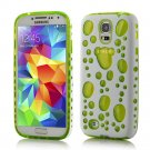 TPU Gel Hybird 3D Bubbles Hard Case Cover For Samsung Galaxy S5 S4 S3 Note 3 yellow