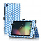 Polka Dot-Blue New Google Nexus 7 II 2nd Android TabletPU Leather Case Cover Stand Multi-Color