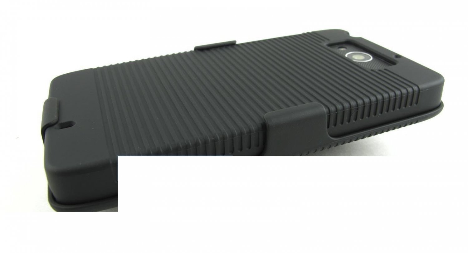 Black Case Cover Clip Holster Face Out-In For Motorola Droid Maxx Xt1080m 2013