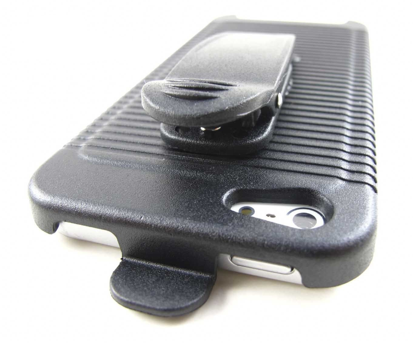 New Black Rotating Belt Clip Holster Case Apple Iphone 5 5s Accessory