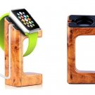 New Apple Smartwatch iWatch 38/42mm Wooden Grain Stand Charger Mount Holder