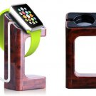 New Apple Watch iWatch 38mm/42mm Wooden Grain Watch Stand Charger Holder Mount