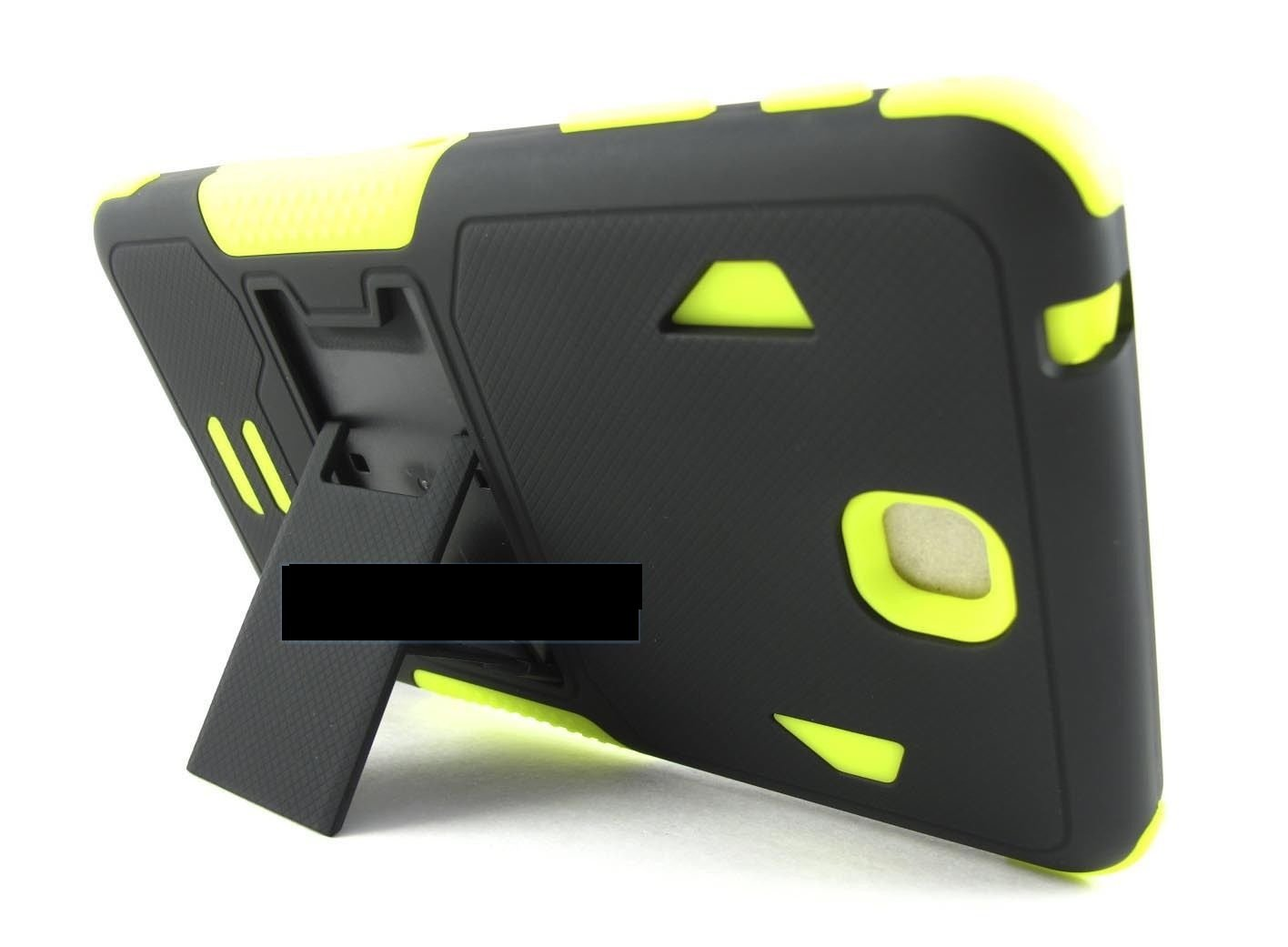 Black Green Dual Layer Shock Case Rugged Cover for Samsung Galaxy Tab Iv 4 7.0