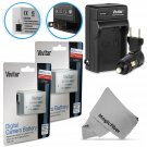 New Battery for Canon Rebel T5i T4i T3i T2i Camera,2 Pcs LP-E8 and Charger