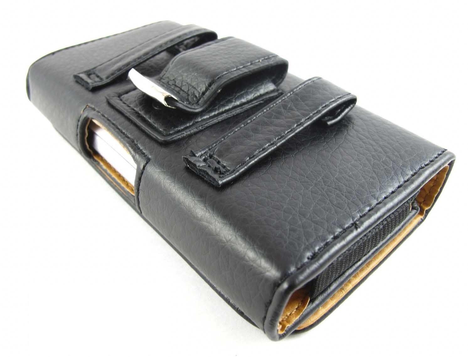 Black Premium Leather Belt Clip Pouch Case For Samsung Galaxy S IV 4 S4