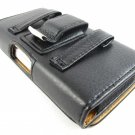 Black Premium Leather Belt Clip Pouch Case For Samsung Galaxy S IV 4 S4