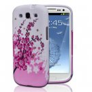 Pink White Flower TPU Skin Case Cover For Samsung Galaxy S3 S III i9300