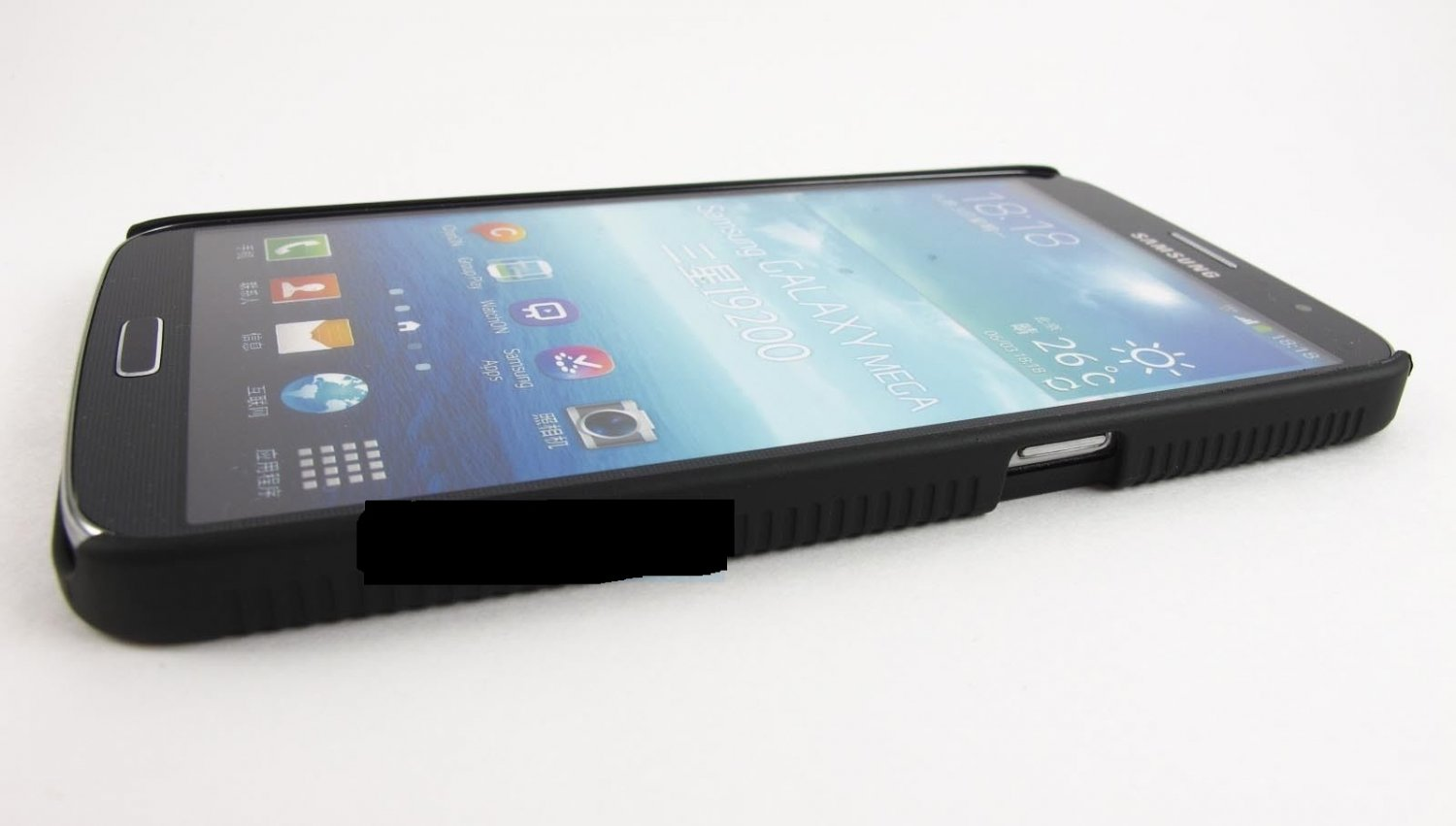 Black Rugged Hybrid Case Cover Clip Holster for Samsung Galaxy Note Iii 3