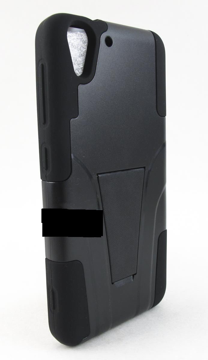 For HTC Desire 610 Phone Models Rugged T-Stand Hybrid Armor Full Black
