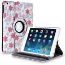 New Flower-Plum iPad Air 5 4 3 2 & iPad Mini PU Leather Case Smart Cover Stand