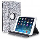 New Abstract-Art iPad Air 5 4 3 2 & iPad Mini PU Leather Case Smart Cover Stand