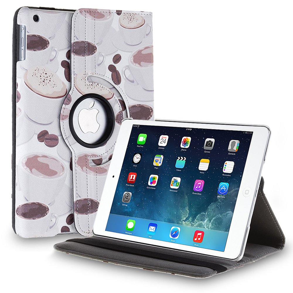 New Cup-Brown iPad Air 4 3 2 & iPad Mini PU Leather Case Smart Cover Stand