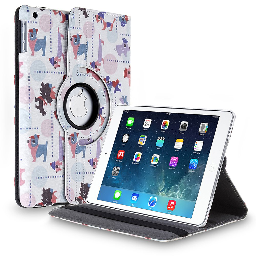 New Cartoon-Dog iPad Air 4 3 2 & iPad Mini PU Leather Case Smart Cover Stand