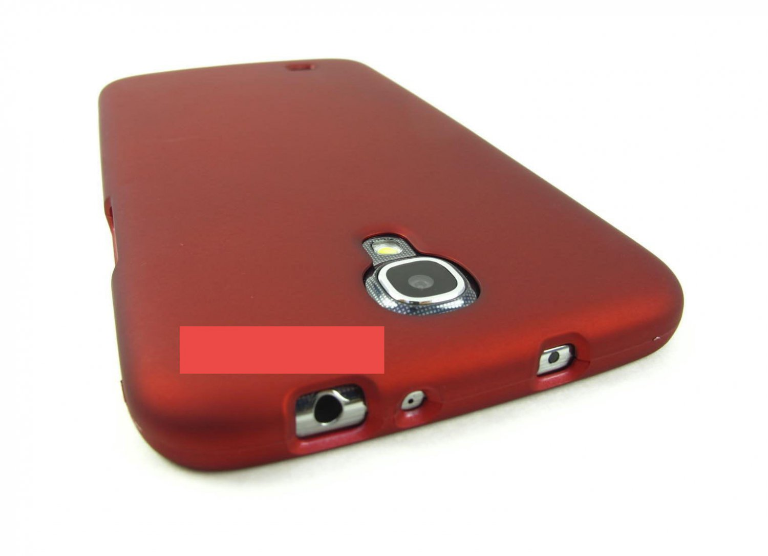 Red Rubberized Hard Case Cover For Samsung Galaxy Mega 6.3 Phone