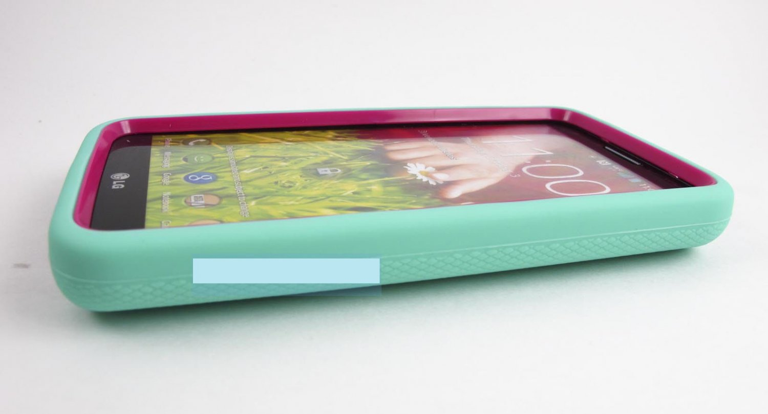 Turquoise Pink Impact Hard Case Cover Kickstand For Lg G2 980 Verizon