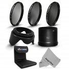New Essential Filter Kit ND2 ND4 ND8,Lens Hood for Nikon Coolpix L810 L820 L830