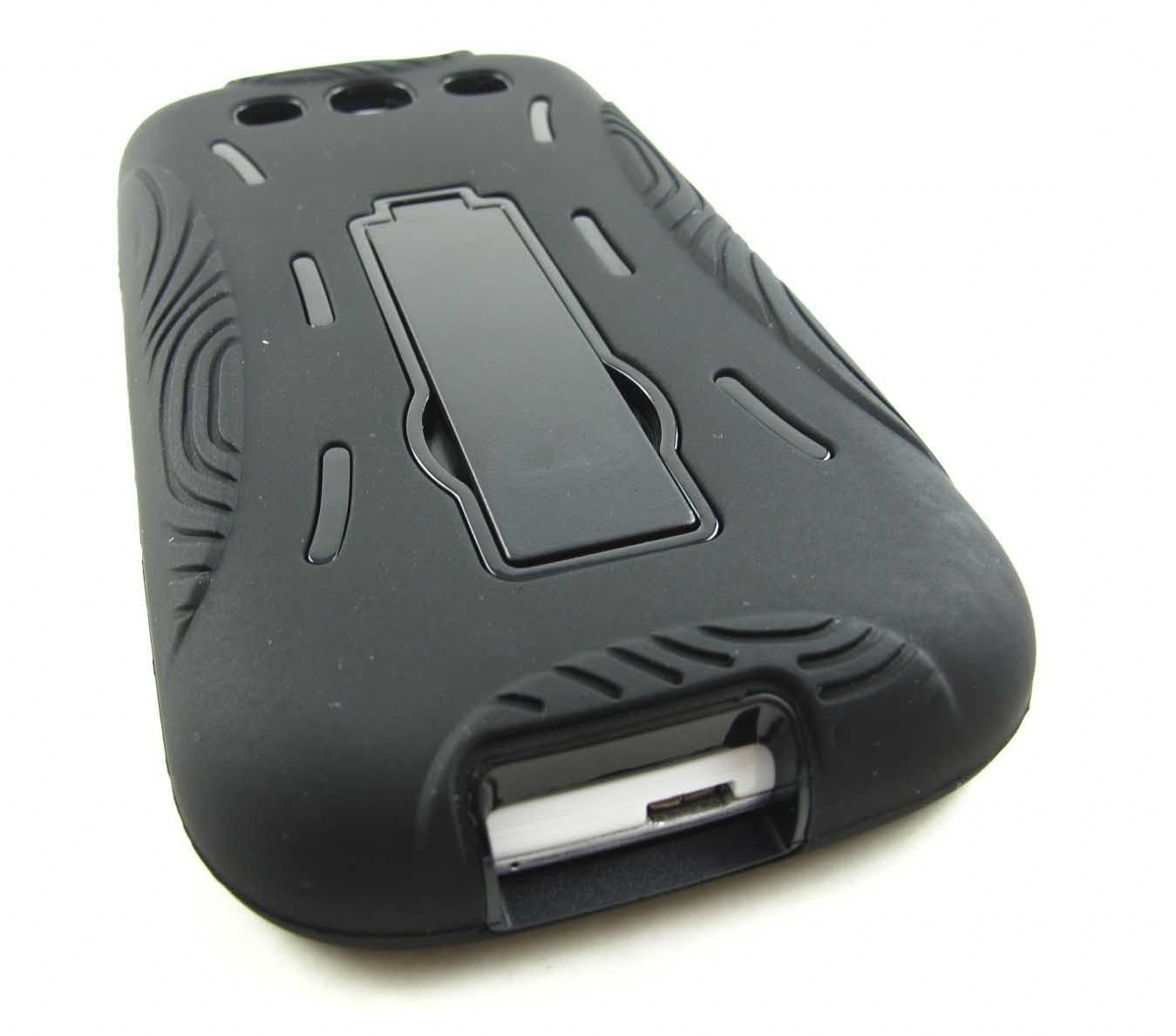 Black Bc Sturdy Hard Case Shell Cover Kickstand Samsung Galaxy S 3 S3