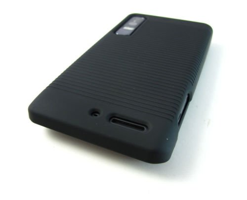 New Black Hard Shell Case Cover Belt Holster Motorola Droid 3 Xt862 Accessory