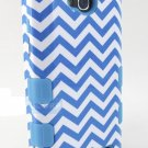 New Blue Wave Pattern LG Optimus Series Models Armor Case Cover Stylus