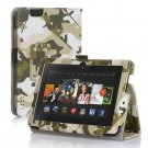 """New Camouflage-Green Kindle Fire HD 7 2nd 2013"""" 2013 PU Leather Folio Stand Cover Case"""