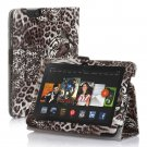 "New Tiger-Brown Kindle Fire HD 7 2nd 2013"" 2013 PU Leather Folio Stand Cover Case"