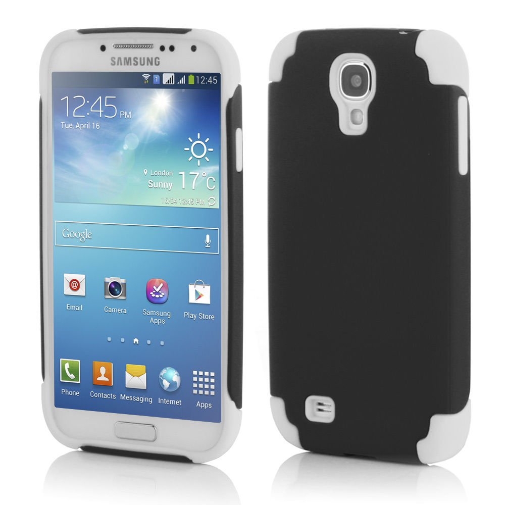 Black Hybrid Shockproof Rugged Mate Cover Case For Samsung Galaxy S5 S4 Note 3 2