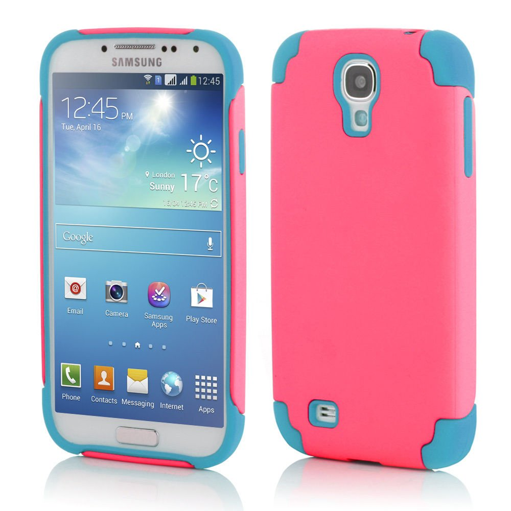 Pink Hybrid Shockproof Rugged Mate Cover Case For Samsung Galaxy S5 S4 Note 3 2