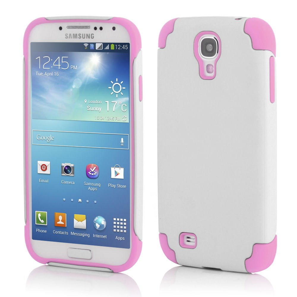 White Hybrid Shockproof Rugged Mate Cover Case For Samsung Galaxy S5 S4 Note 3 2