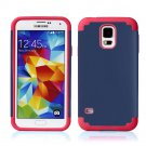 Dark Blue Hybrid Shockproof Rugged Mate Cover Case For Samsung Galaxy S5 S4