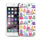 New Cartoon-Owl iPhone 6 4.7-6 Plus 5.5 Hard Snap-on Case Cover-Screen Protectors