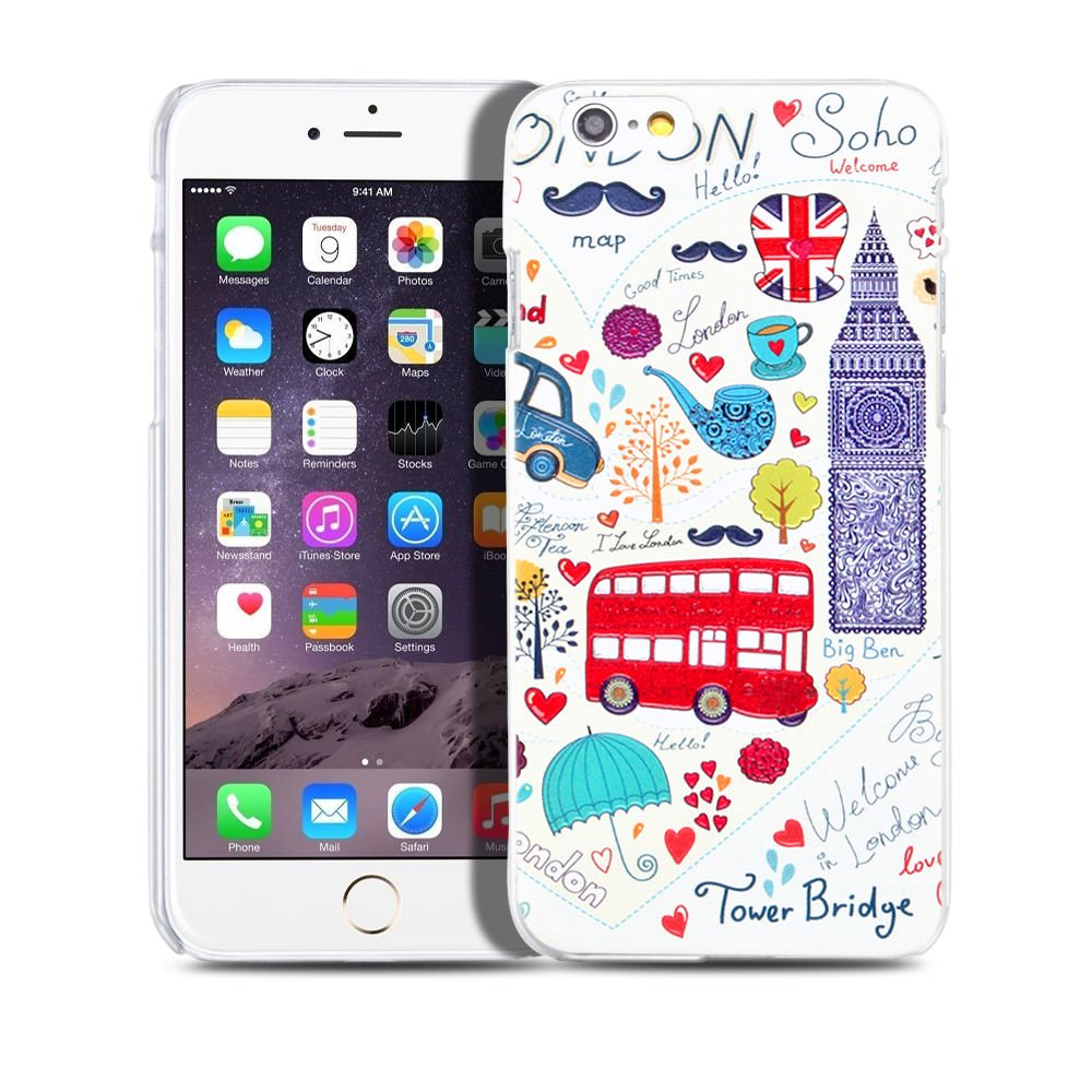 "New London Bus iPhone 6 Plus5.5""inch Case Cover-Screen Protectors"