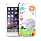 "New Elephant Rain Sun iPhone 6 Plus5.5""inch Case Cover-Screen Protectors"