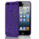 Purple Bird's Nest Design Hard Snap On Case Cover For Apple iPhone 5S 5 5th Gen