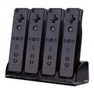 Remote Controller Charger Charging Dock,4 Rechargeable Battery for Nintendo Wii