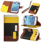 Black Hybrid Leather Wallet Flip Pouch Case Cover For GalaxyS3,S4,Note2,Grand
