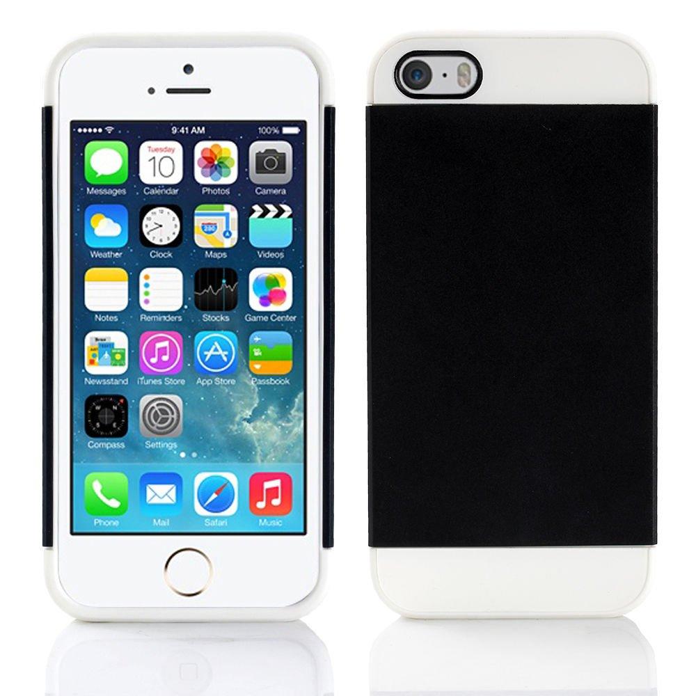 Black Hybrid Hard TPU Case Combo Cover For Apple iPhone 5c