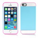 Blue and Pink Hybrid Hard TPU Case Combo Cover For Apple iPhone 5c