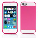 Pink and Hot Pink Hybrid Hard TPU Case Combo Cover For Apple iPhone 5c