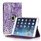 New Purple Yellow Leopard Print iPad Air 5 5th Gen Case Smart Cover Stand