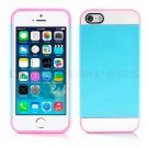 Blue Hybrid Hard TPU Case Combo Cover For Apple iPhone 4S,4
