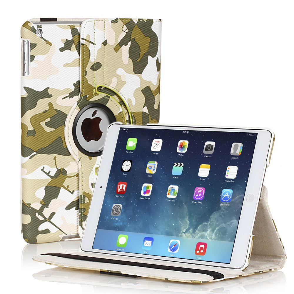 New Camouflage Camo Green iPad Air 5 5th Gen Case Smart Cover Stand